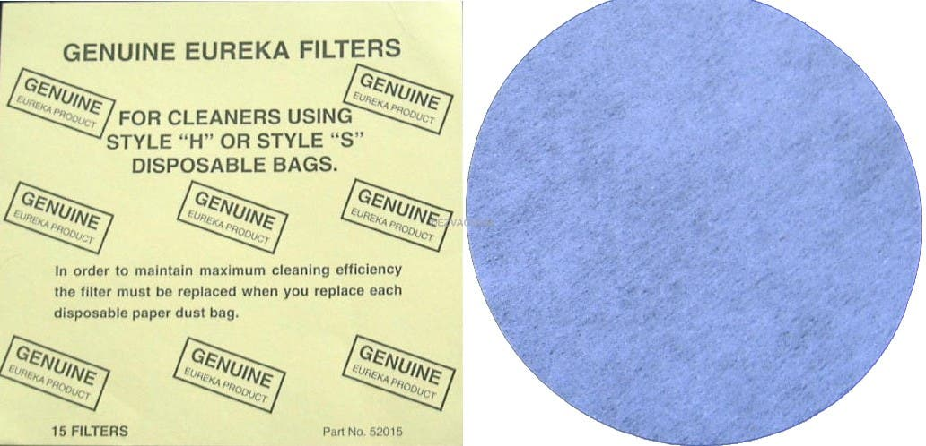 Eureka B, H, or S Filters - 15 pack - Genuine