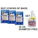 18 Kirby 204803 Generation 3, 4, 5, 6, 7 Sentria Bags + Free Shampoo