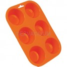 Casabella Muffin Pan Standard Silicone Orange Each - Bakes 3 Muffin