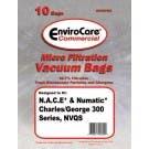 Numatic Charles & George Micro Filteration Vacuum Cleaner Bags NVM2B/2 - Generic - 10 per pack