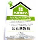204814G  KIRBY ,MICROALLERGEN PLUS,6PK,UPRIGHT FITS GEN 3 THRU AVALIR / HEPA 13 FILTRATION