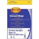 Eureka Style LS Vacuum Bags Generic 3 pack