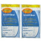 6 Hoover Type W2 Windtunnel Allergy Vacuum Bag, Bagged, Upright Vacuum Cleaners, W2, 401080W2