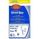Riccar 1500 Type H  Micro-Filtration Vacuum Bags - Generic - 6 pack