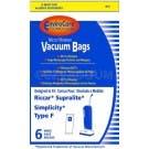 Riccar Supralite / Simplicity Type F Vacuum Bags- 6 pack