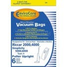 Riccar C13 Type A vacuum cleaner bags for 2000, 4000 & R Series - 6 pack