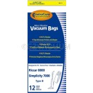 Riccar C15 Type B Vacuum Bags for 8000, 8600, 8900 Series -  12 Pack
