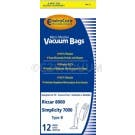 Riccar C15 Type B Economy Vacuum Cleaner Bags for 8000 Series - 12 Pack