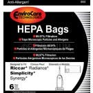 Simplicity Synergy SXH-6 Type X HEPA Vacuum Cleaner Bags - 6 pack