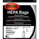 Riccar C21-6 / RWH-6 Brilliance HEPA Type W Vacuum Bags- 6 pack