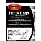 Riccar 14/15/17/18 series HEPA replacement paper bags. - 6 pack, RHH-6