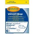 Riccar Supra-Quik / Simplicity Sport Vacuum bags - Generic - 6 Pack