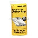 Shop Vac Type G 15, 16, 18, 22  25 Gallon Bags 906-63 - 3 pack - Genuine