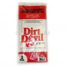 Dirt Devil CV1500 Bags - Genuine - 3 Bags