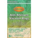 Panasonic C-5 Anti-Allergen Cloth Vacuum Cleaner Bags- 3 pack