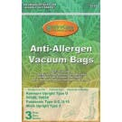 Panasonic U-2 Anti-Allergen Vacuum Bags- 3 pack