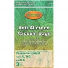 Panasonic U3 or U6 Type bags- 3 pack