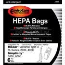 Riccar Type A Hepa Vacuum Bags for Vibrance, R, 2000/4000 Series Uprights RAH-6