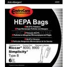 Riccar Type B HEPA Vacuum Bags for 8000, 8900 Series, Simplicity Type B
