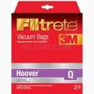 Hoover Type Q Synthetic Bags by Filltrete 3M for Hoover UH30010 - 2 Pack