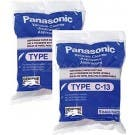 10 Panasonic Canister Vacuum Cleaner Type C-13 Bags Genuine Part # AMC-S5EP
