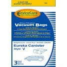 Eureka Type 'V' Canister Vacuum Cleaner Bags - 3 Pack x 4 (Total 12 Bags) - Generic