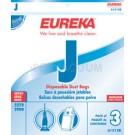 Eureka J Vacuum Bags 61515B, 61515C - Genuine - 3 Pack