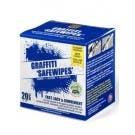 Graffiti Safewipes - Dispenser Carton of 20 Single 'Safewipes' Pouches