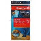 Honeywell FilterPower Micro-Filtration Vacuum Bags - Royal Dirt Devil Type D