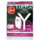 Hoover Y or Z Vacuum  Bags - Genuine - 2 Pack