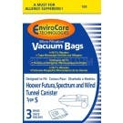 PAPER BAGS-HOOVER,S,3PK,MICROLINED,CANISTER FITS ORECK 1C SK30080,ENVIROCARE,REPL