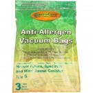 Hoover Style S Anti Allergen HEPA Cloth Bags - 3 pack