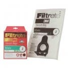 Miele Type Z Filtrete 3M Synthetic Cloth Allergen Dustbags for S170 - S185 - 5 Bags  2 Filters. Replaces Miele Part 05294741