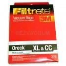 Oreck XL & CC Filtrete 3M Vacuum Cleaner Micro Allergen Bags