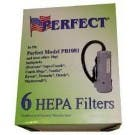Perfect 10 Quart Backpack HEPA Filtration Vacuum Bags - 6 Pack