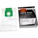 PAPER BAGS RICCAR PRIMA, SIMPLICITY C, ALLERGEN W/GREEN PLASTIC COLLAR,CANISTER