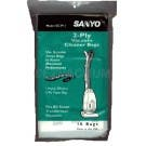Sanyo SCP11 Transformax 2ply Vacuum Bags- Genuine- 10 pack