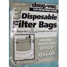 Shop Vac QS60 AllAround Filter Bags 906-70 - 3 Bags