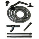 Vacuum Cleaner Attachment Kit with 12 Ft Hose