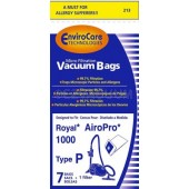 Royal AiroPro 1000 Type P Envirocare Vacuum Bags  - Generic - 7 Pack and 1 Filter