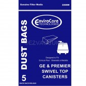 GE C Series 405329 Vacuum Bags for Premier Whirlwind Swivel Top Canister - 5 Pack