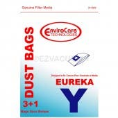 Eureka Y Vacuum Bags - Generic - 3 bags + 1 filter/pack