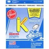 Hoover  K Vacuum  Bags 4010100K- Genuine - 3 pack