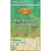 Hoover Y- Advanced Fiber Filtration Vacuum Bags 4010801Y- Generic - 3 Pack