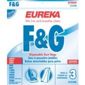 Eureka F&G Upright Vacuum Bags 52320A - Genuine - 3 Pack