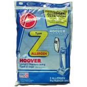 Hoover Z Allergen Vacuum  Bags 4010100Z - Genuine - 3 pack