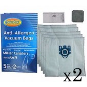10 Replacement Miele Vacuum bags + 4 Filters for Miele Compact C2 Topaz PowerLine - SDAE0