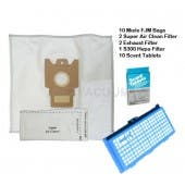 Miele S300-S500 Canister Vacuum Supply Kit 1 HEPA Filter + 10 Miele FJM Bags - Generic