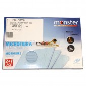PAD, CLOTH EZ1 MONSTER MICROFIBER STEAMER 3PK INCLUDES: 2 MICROFIBER HARD FLOOR PADS AND 1 CARPET PAD