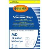 Modern Day 12 gallon Central Vacuum Bags  MD814L - 3 Pack
